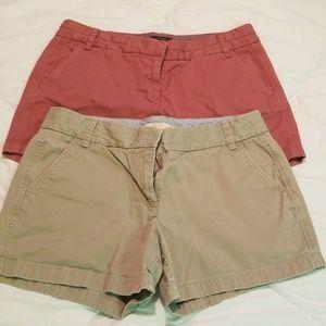 Bundle of 2 JCrew Chino shorts